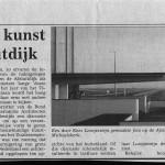 Artikel over lezing kunst op de Afsluitdijk