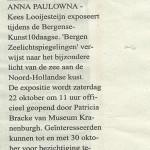 Artikel expostie Zeelichtspiegelingen Bergense Kunst10Daagse