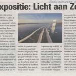 Artikel over expostie Licht aan Zee